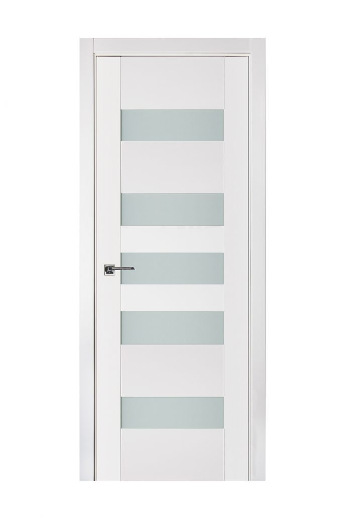 Triplex 042 White Wood Lacquered Modern Interior Door