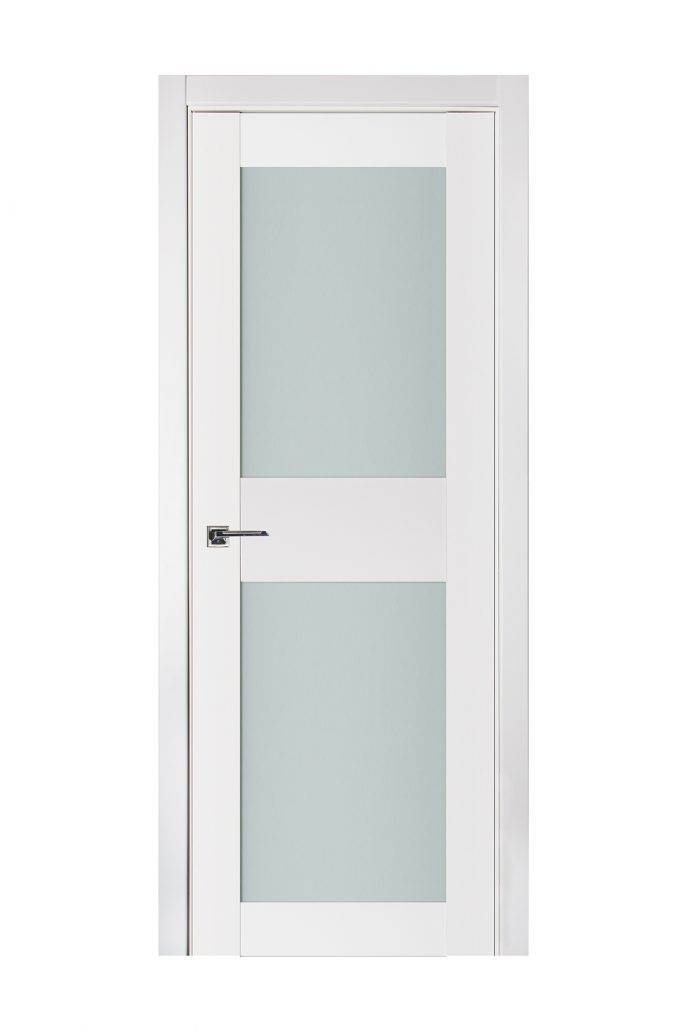 Triplex 043 White Wood Lacquered Modern Interior Door