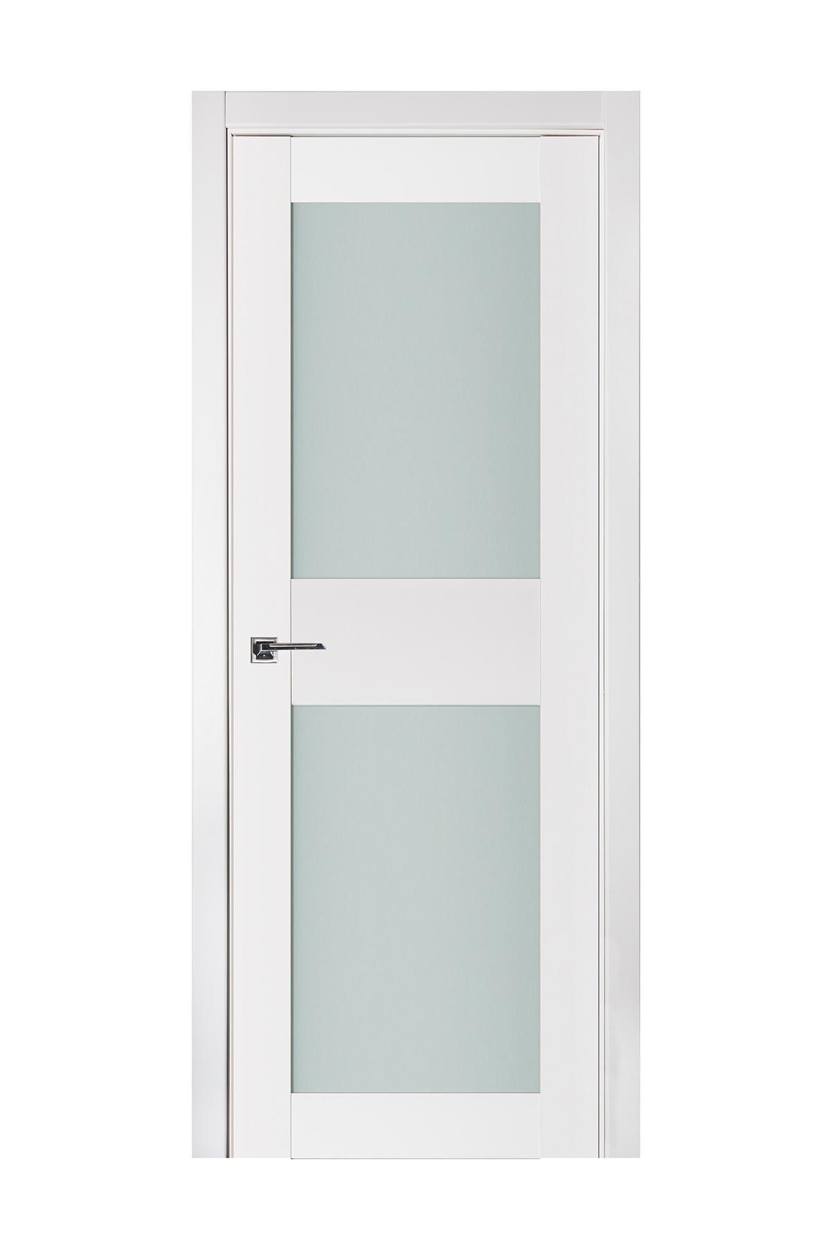 Triplex 043 White Wood Lacquered Modern Interior Door
