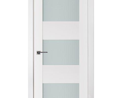 Triplex 044 White Wood Lacquered Modern Interior Door