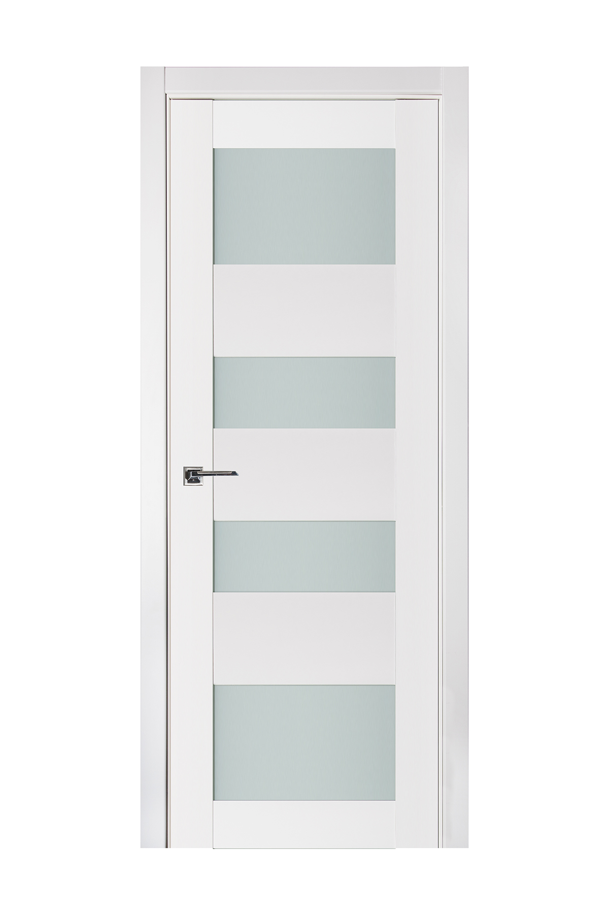 Triplex 045 White Wood Lacquered Modern Interior Door