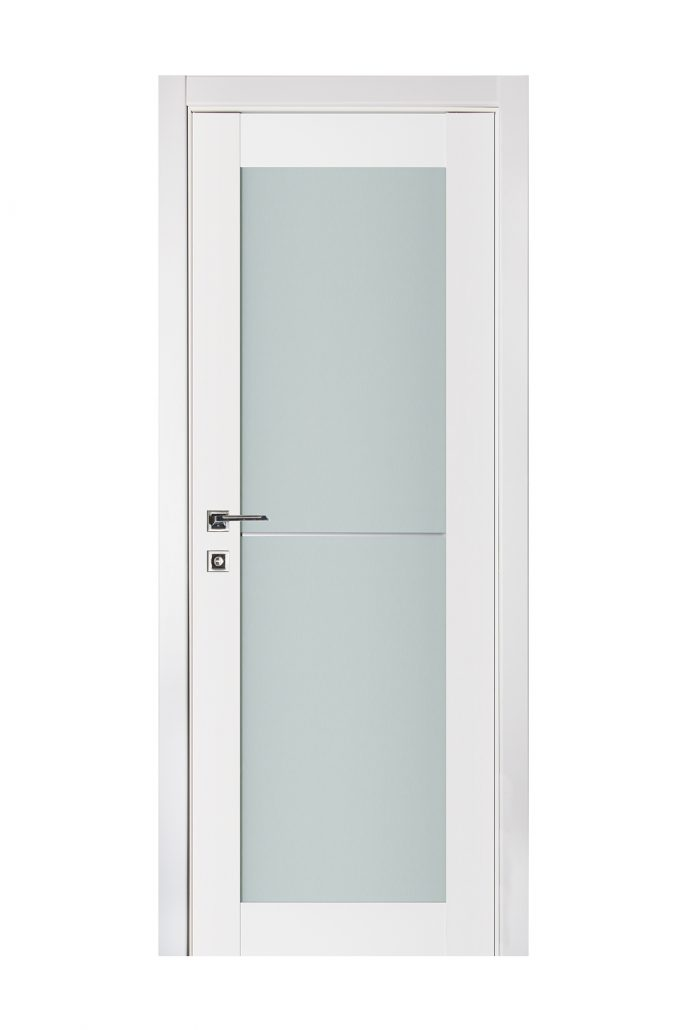 Triplex 046 White Wood Lacquered Modern Interior Door