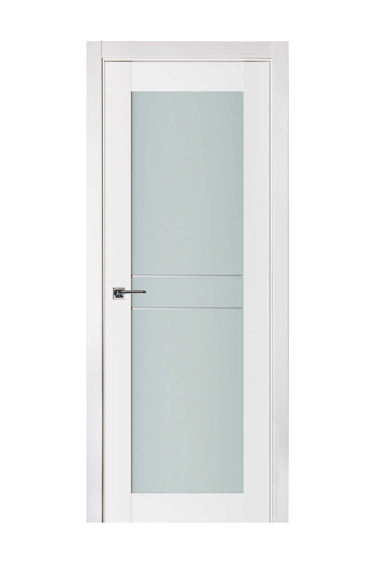 Triplex 047 White Wood Lacquered Modern Interior Door