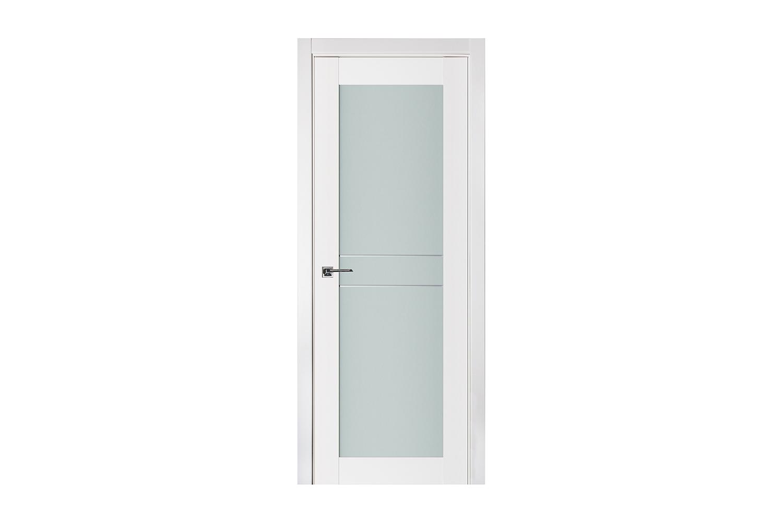 Triplex 047 White Wood Lacquered Modern Interior Door