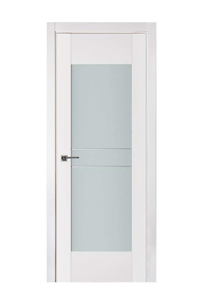 Triplex 048 White Wood Lacquered Modern Interior Door