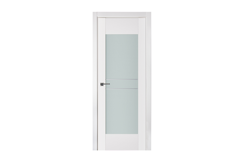 Triplex 048 White Wood Lacquered Modern Interior Door