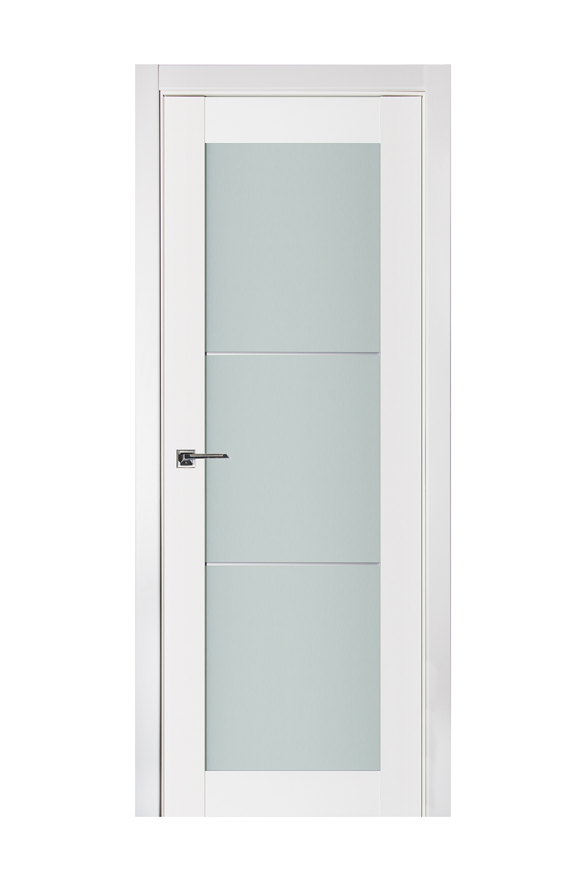 Triplex 049 White Wood Lacquered Modern Interior Door