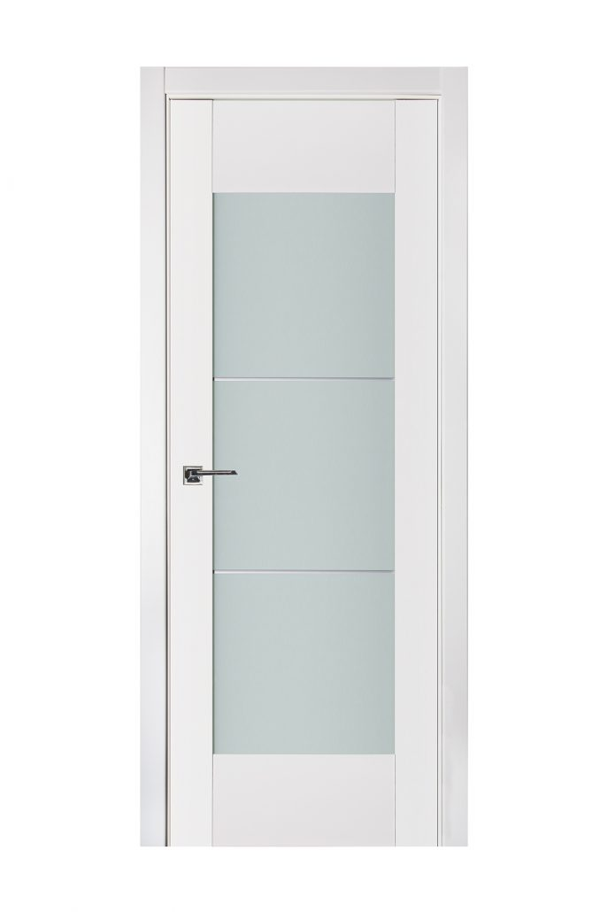 Triplex 050 White Wood Lacquered Modern Interior Door