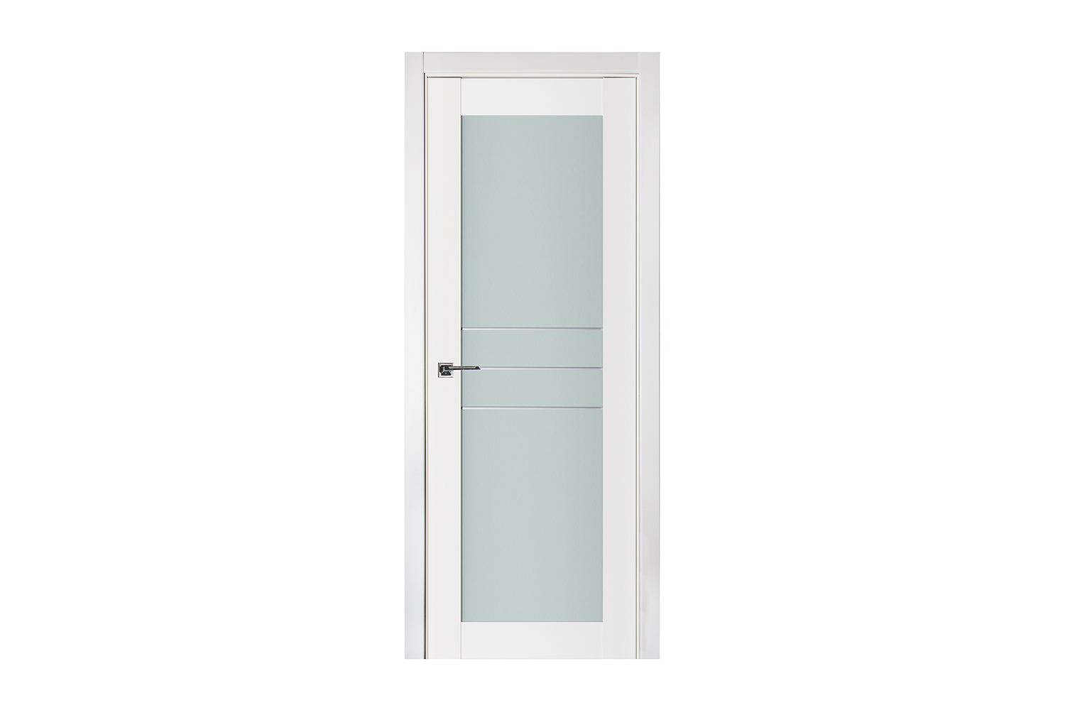 Triplex 051 White Wood Lacquered Modern Interior Door