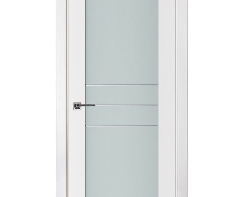 Triplex 052 White Wood Lacquered Modern Interior Door