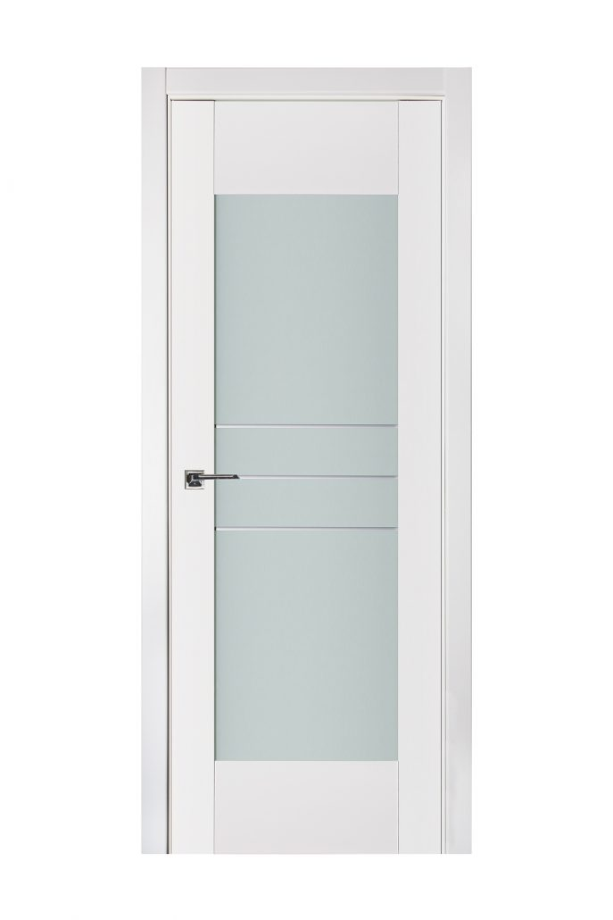 Triplex 052 White Wood Lacquered Modern Interior Door