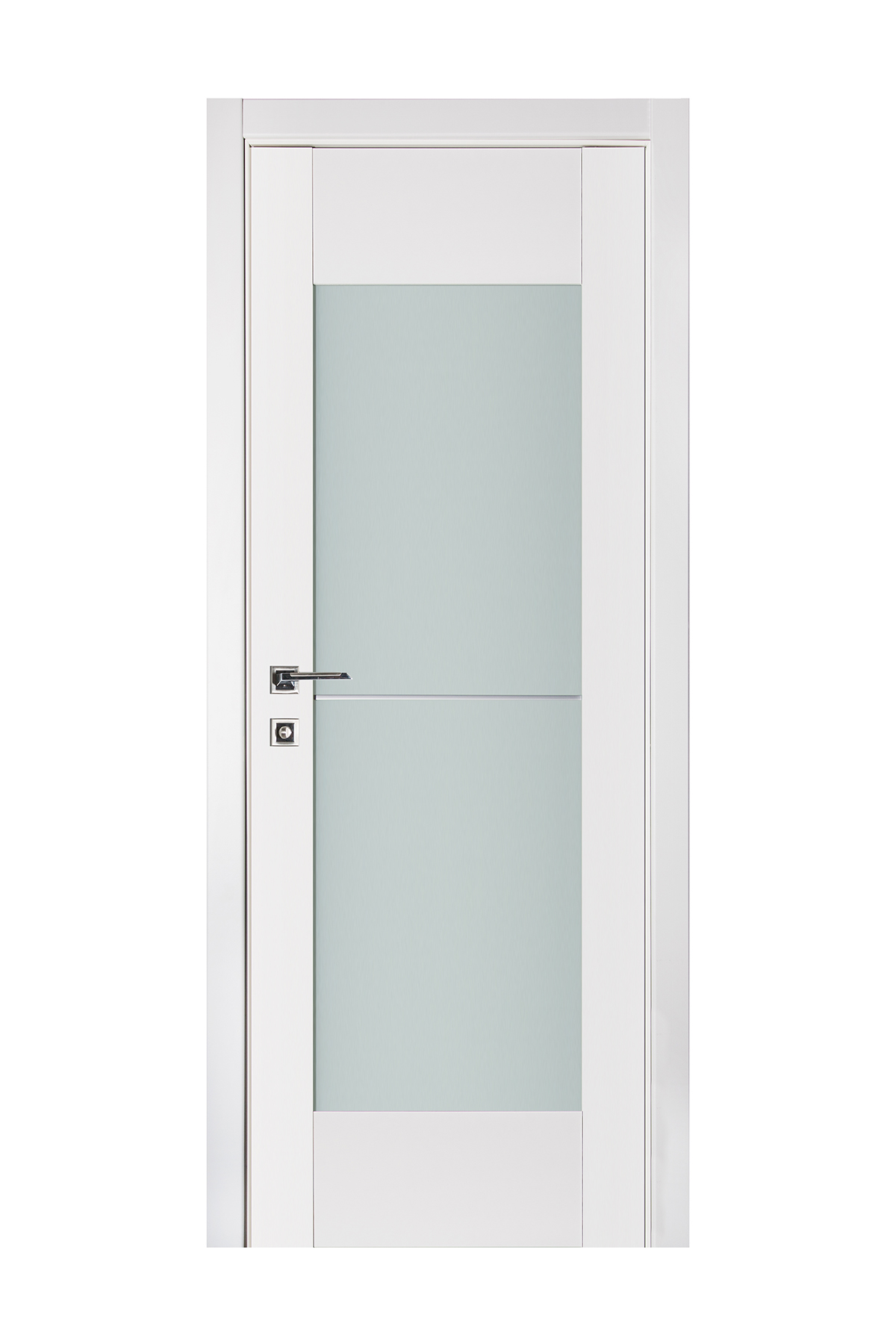 Triplex 053 White Wood Lacquered Modern Interior Door