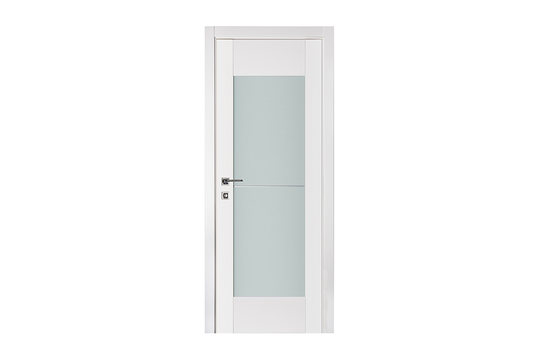 Triplex 053 White Wood Lacquered Modern Interior Door