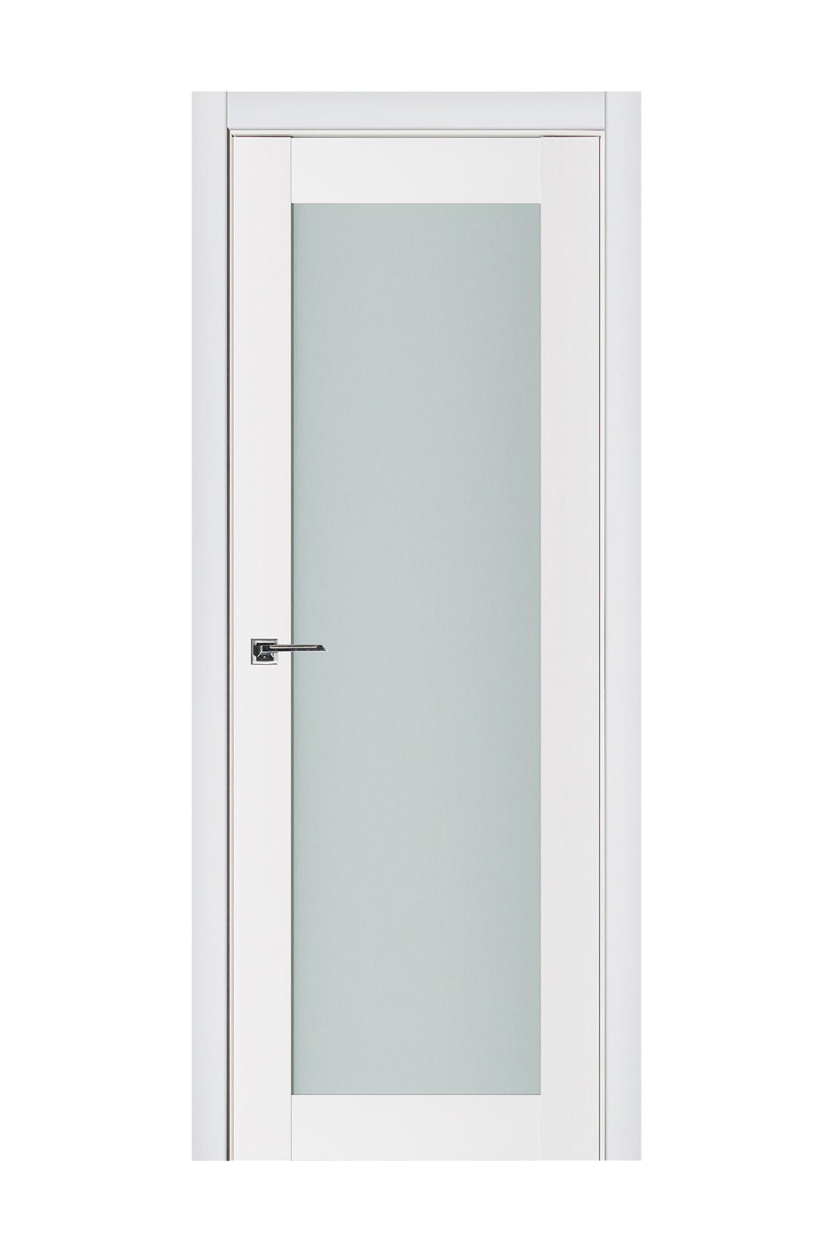 Triplex 054 White Wood Lacquered Modern Interior Door