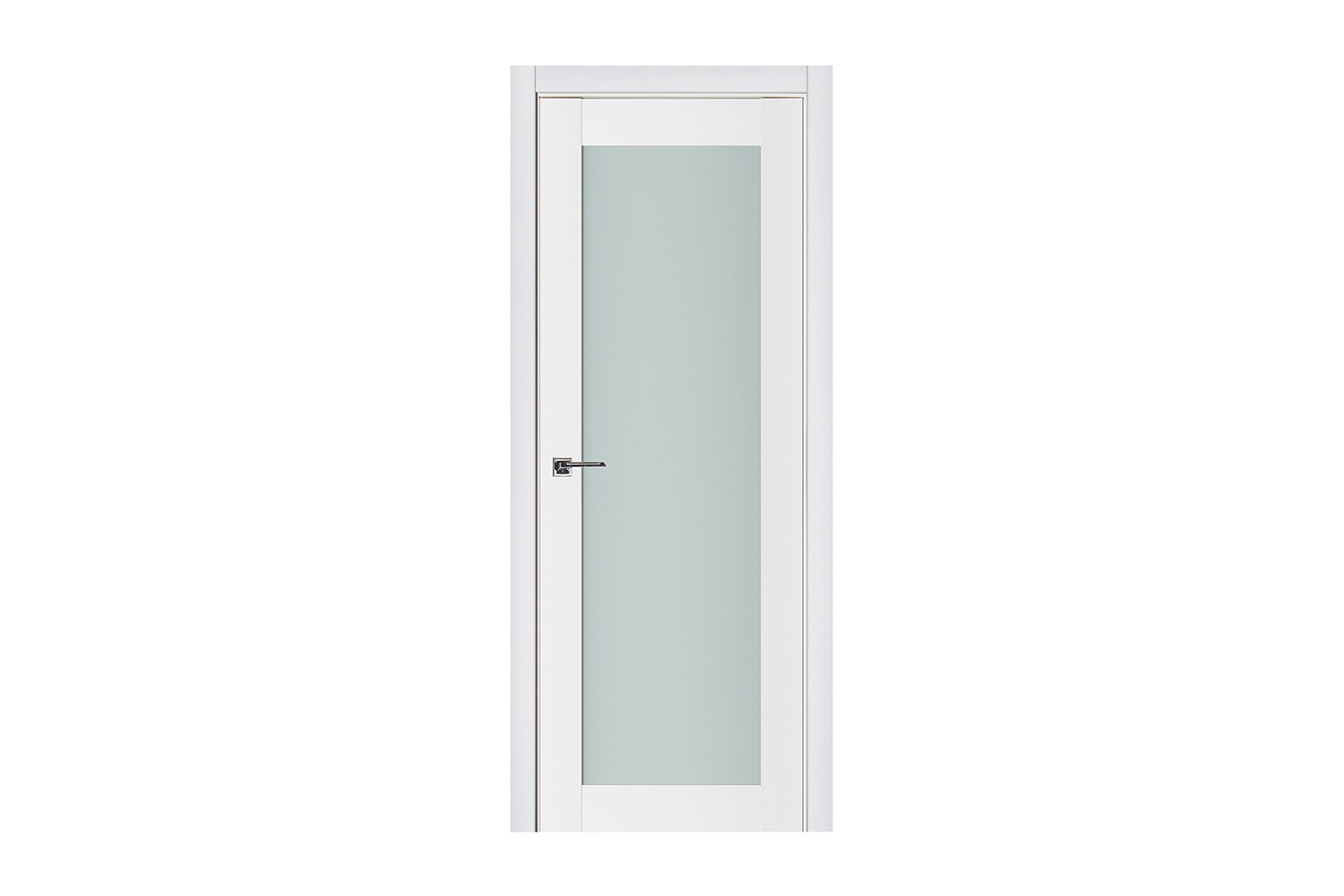 Triplex 054 White Wood Lacquered Modern Interior Door