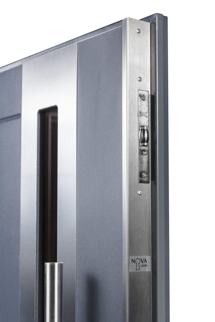 Inox S2 Grafit Grey Exterior Door - Nova Interior Doors