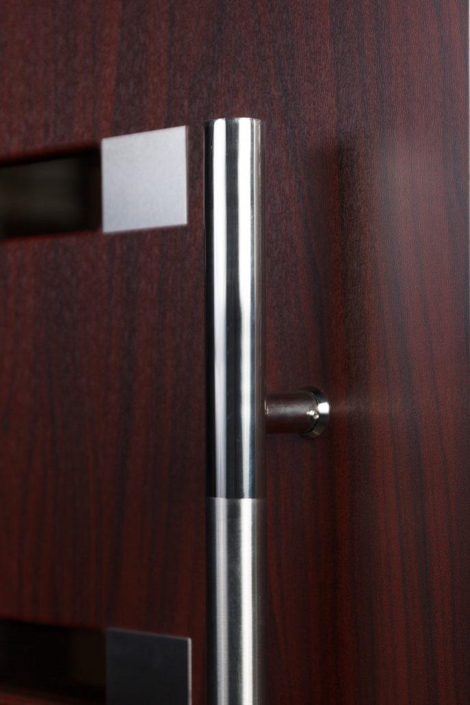 Inox S5 Mahogany Exterior Door Nova Interior Doors