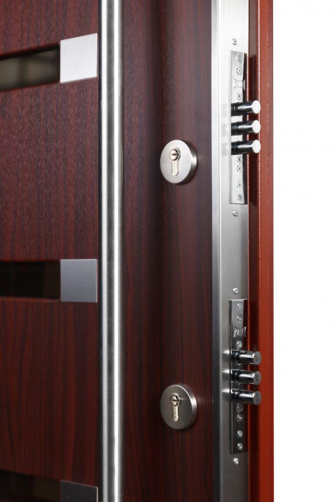 Inox S5 Mahogany Exterior Door - Nova Interior Doors