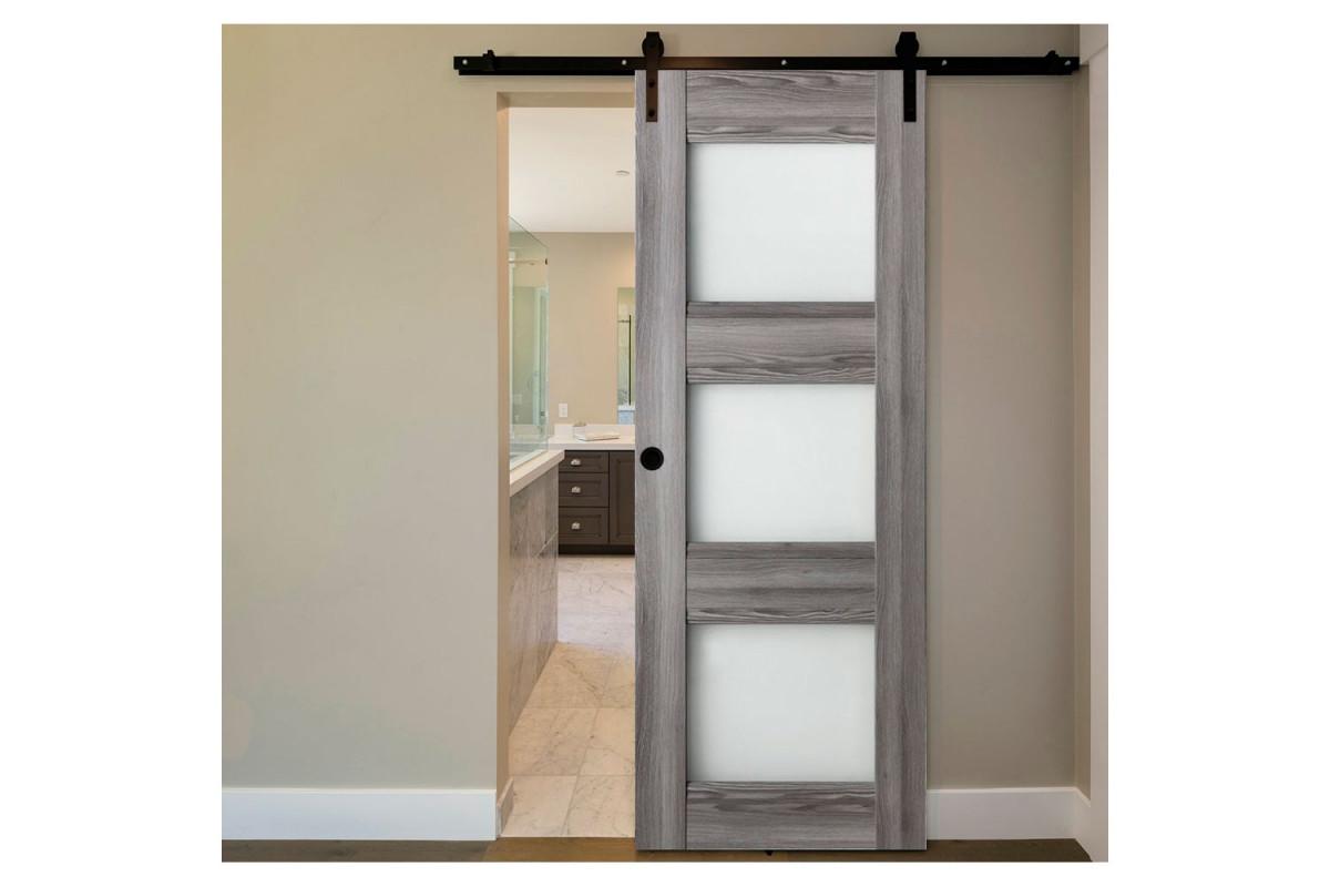 Modern Interior Door Domino G3 Gray Oak - Barn Door Configuration