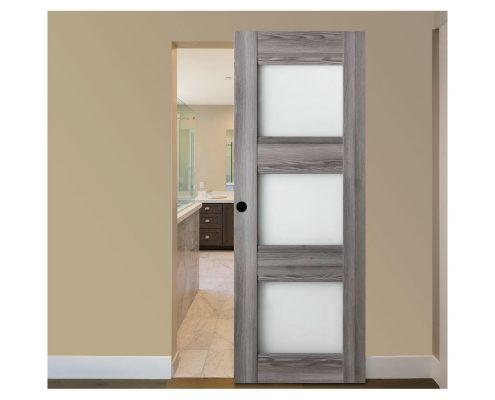 Modern Interior Door Domino G3 Gray Oak - Magic Sliding Door Configuration