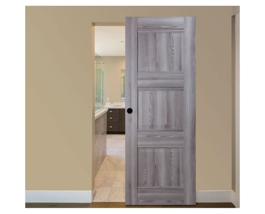 Modern Interior Door Domino P3 Gray Oak - Magic Sliding Door Configuration