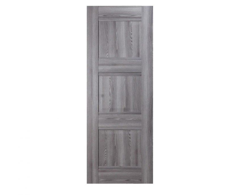 Modern Interior Door Domino P3 Gray Oak - Slab Only