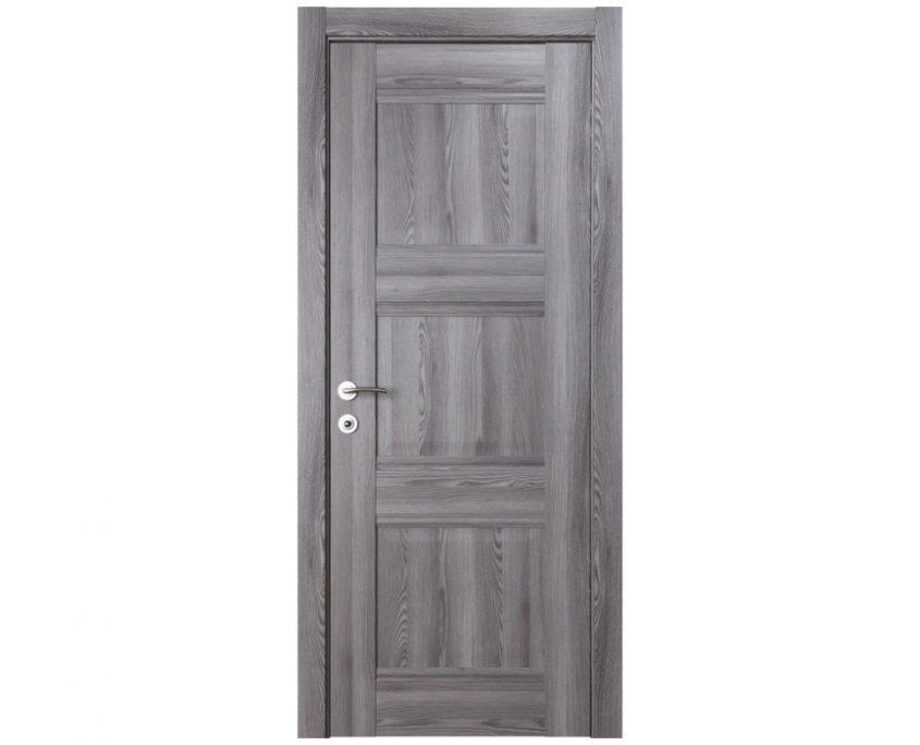 Modern Interior Door Domino P3 Gray Oak - Single Door Configuration